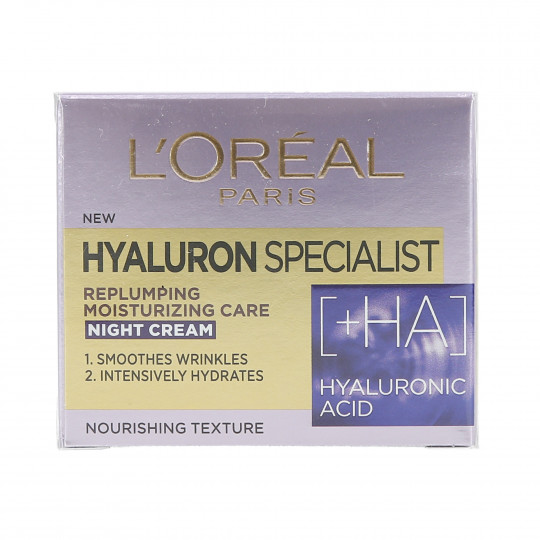 L'OREAL PARIS HYALURON SPECIALIST Krem-maska do twarzy na noc 50ml