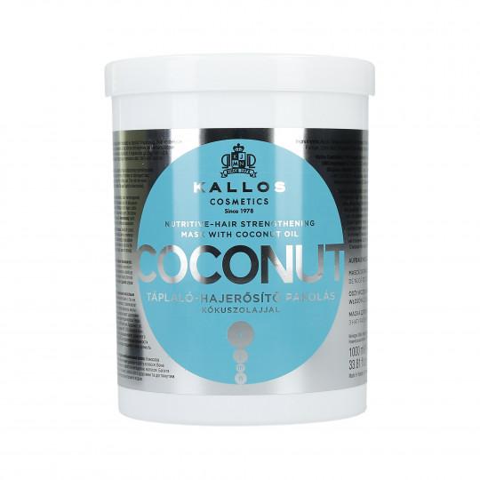 KALLOS KJMN Coconut Odżywczo-wzmacniająca maska do włosów 1000ml