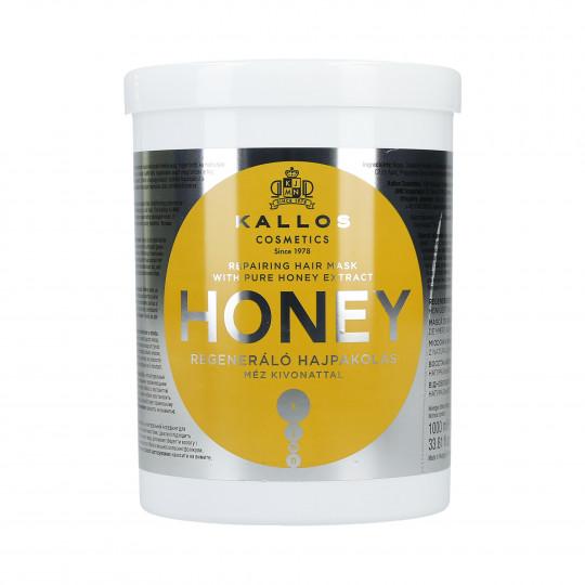 KALLOS KJMN Honey Odbudowująca maska do włosów z miodem 1000ml