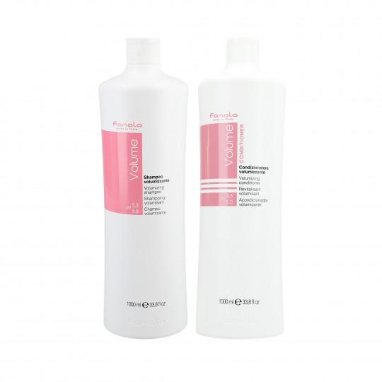 FANOLA VOLUME Zestaw do włosów cienkich szampon 1000ml+odżywka 1000ml