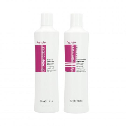 FANOLA AFTER COLOUR Zestaw do włosów farbowanych szampon 350ml+odżywka 350ml