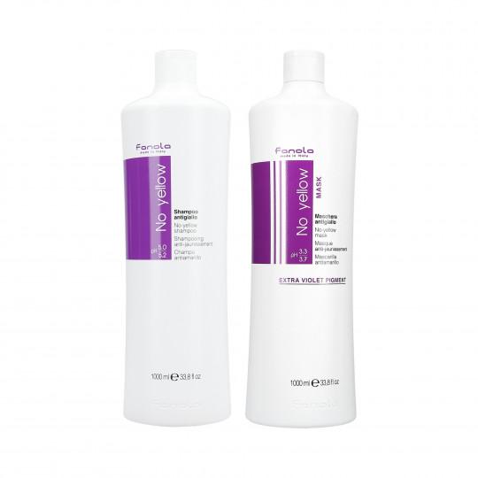 FANOLA NO YELLOW Zestaw do włosów blond szampon 1000ml+maska 1000ml