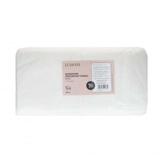 LUSSONI by Tools For Beauty, Ręczniki z włókniny perforowanej BASIC, 70 cm x 50 cm, 100 szt.