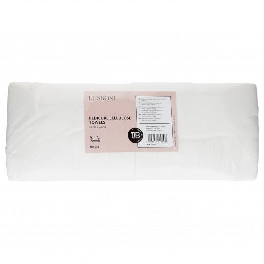LUSSONI by Tools For Beauty, Ręczniki z celulozy do pedicure, 50 cm x 40 cm, 100 szt.