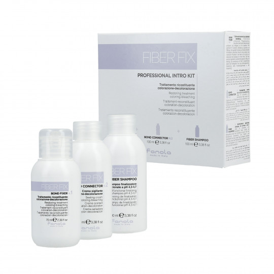 FANOLA FIBER FIX Professional Intro Kit Zestaw Bond Fixer 70ml+Bond Connector 100ml+szampon 100ml