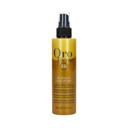 FANOLA ORO THERAPY 24k Oro Puro Dwufazowa odżywka do włosów w sprayu 200ml