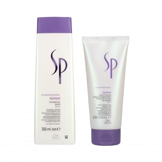WELLA SP REPAIR Zestaw do włosów zniszczonych szampon 250ml+odżywka 200ml