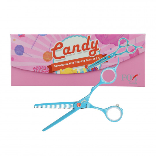 FOX CANDY Profesjonalne degażówki fryzjerskie 5.5'' turkusowe