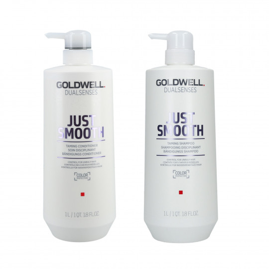 GOLDWELL DUALSENSES JUST SMOOTH Zestaw szampon 1000ml+odżywka 1000ml