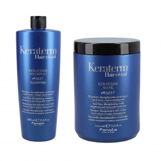 FANOLA KERATERM Zestaw do włosów z keratyną szampon 1000ml+maska 1000ml