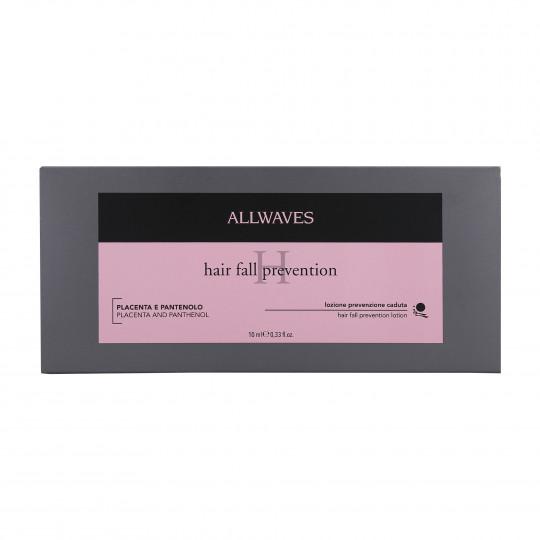 ALLWAVES LOTION ANTI HAIR LOSS PLACENT&PANTHENOL Ampułki zapobiegające wypadaniu włosów 12X10ml