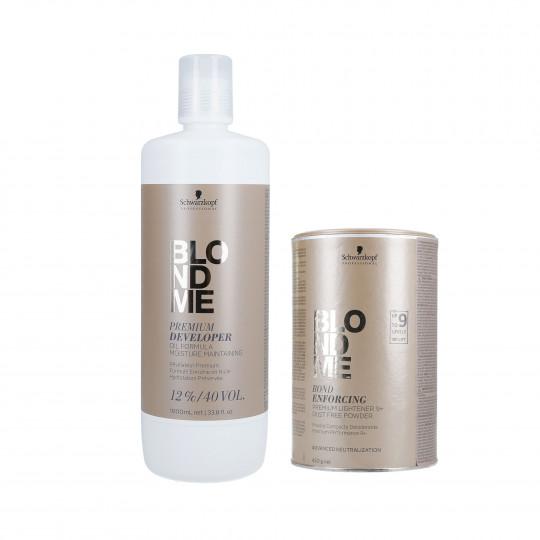 SCHWARZKOPF BLONDME Zestaw do włosów Rozjaśniacz 450g + Utleniacz 12% 1000ml