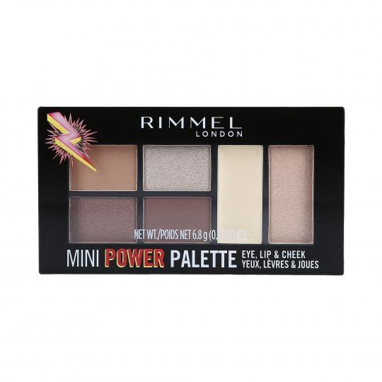 RIMMEL MINI POWER Paletka do makijażu 002 Sassy 7,82g
