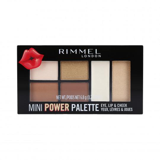 RIMMEL MINI POWER Paletka cieni 001 Fearless 6,8g